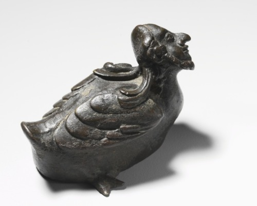 centuriespast:  Bird with Human Head, possibly Hermes   Pakistan, Gandhara, Kushan Period (1st century-320)   Date: c. 3rd-4th Century The Cleveland Museum of Art