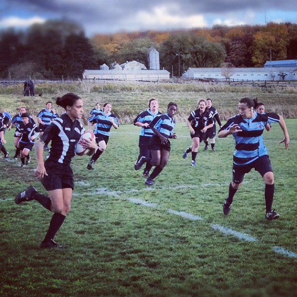 Ithaca women's #rugby league! #ithacagram #cornell  (at Cornell Rugby Pitch)