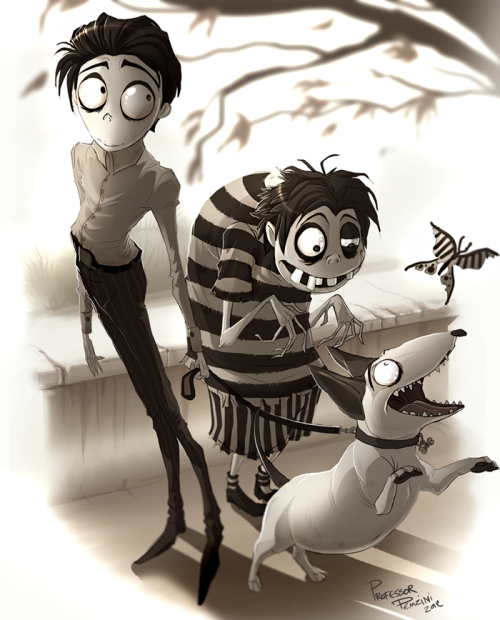 Frankenweenie - Victor, Edgar, and Sparky by ProfessorPemzini