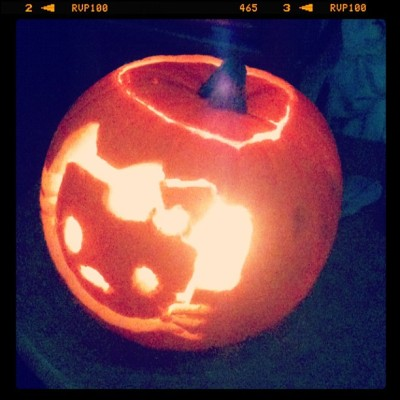 My hello kitty pumpkin :3