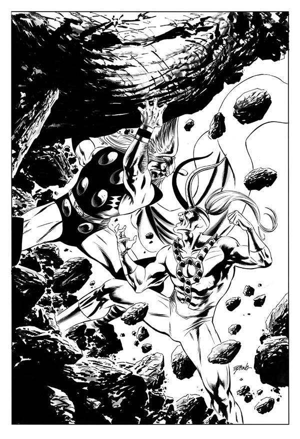 Thor versus Loki by Steve Epting