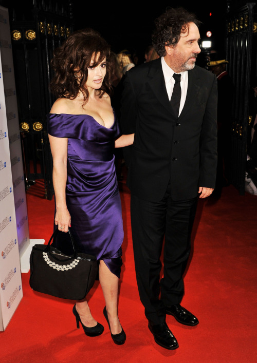 Tim Burton and Helena Bonham Carter attend the 56th BFI London Film Festival Awards