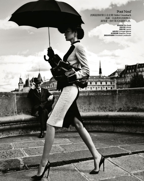 {On the blog} Friday Fashion: Classic Parisian Glamour in Harper's Bazaar China