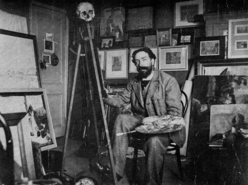 belgianpaintings:  Le Peintre James Ensor dans son atelier en 1895