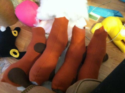 More pabu work!!! Bodies are done! Going to be bringing 4 total to youmacon Facebook~Deviantart~Etsy
