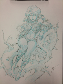 quirkilicious:  Poison Ivy sketch commission and ECEE!  wow hot dang