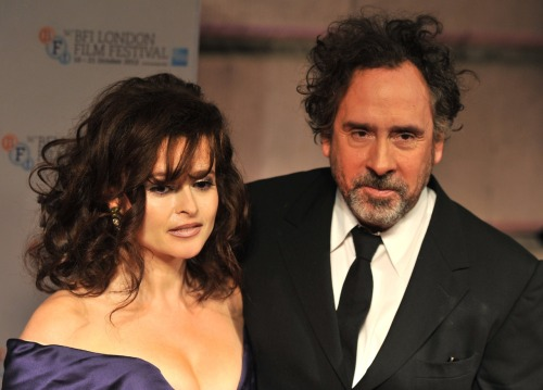Tim Burton and Helena Bonham Carter at BFI award
