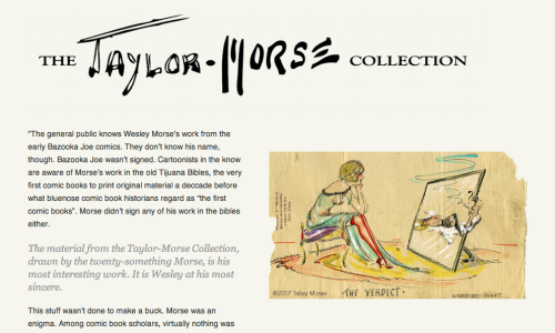 We've moved the official collection website over to the more user-friendly Wordpress and are in the process of updating things ahead of some exciting announcements. I invite everyone to stop by for a look.   The Taylor-Morse Collection