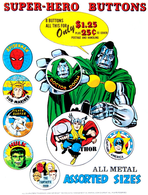 Marvel Buttons (1969)