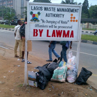 No dumping of waste shey?