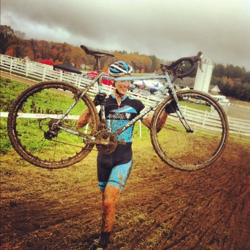 This is how you know @cfthemantis rides hard. (at Downeast Cyclocross)