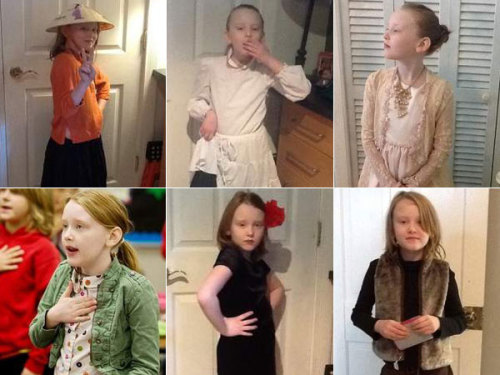8-Year-Old Girl Gets Head Start On Cosplay, Goes To School As Different Historical Figure Almost Every Day