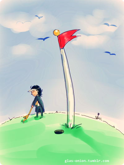 glas-onion:  That's what his magic stick is really for: playing golf!