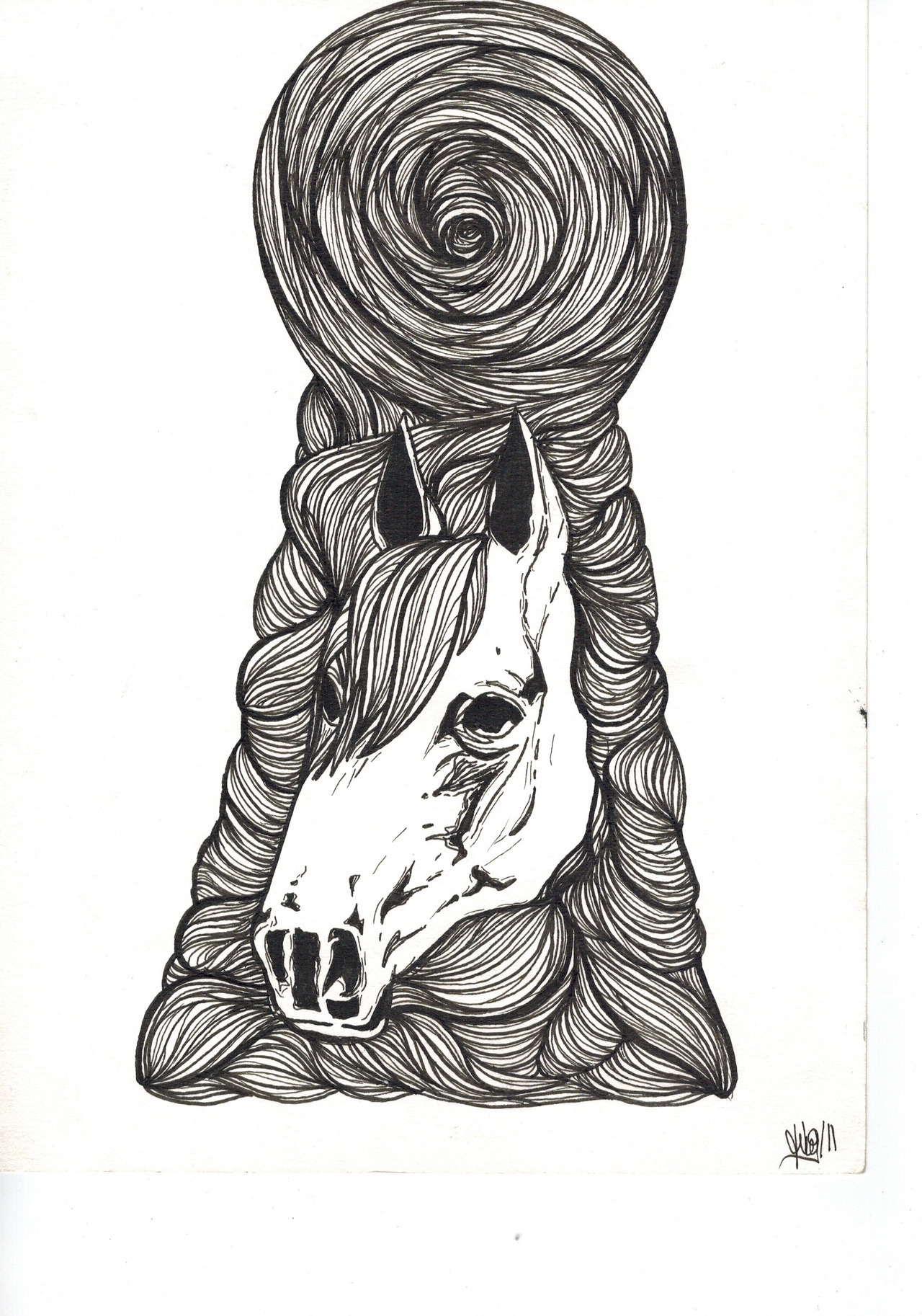"""Inside me"", ink on paper, 2011."