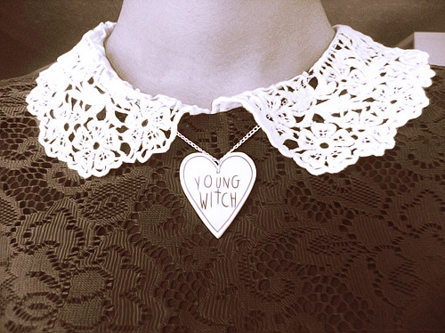 Young Witch necklace available at www.athousanddaisies.com ☾