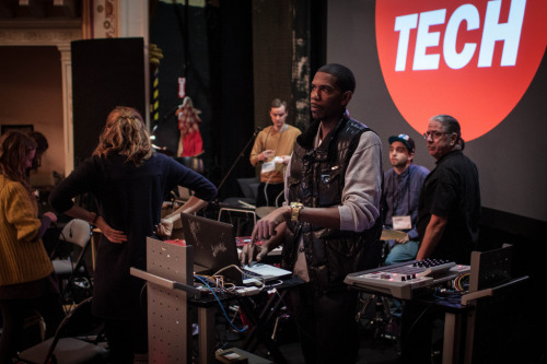 poptech:  Young Guru is best known for mixing 10 of Jay-Z's albums and for being Jay-Z's tour D.J., but he's also part of a team using a grant from the National Science Foundation to develop so-called 3-D sound, which allows the brain to interpret the depth and direction of sound like it occurs in real space. We'll find out more about this soon.