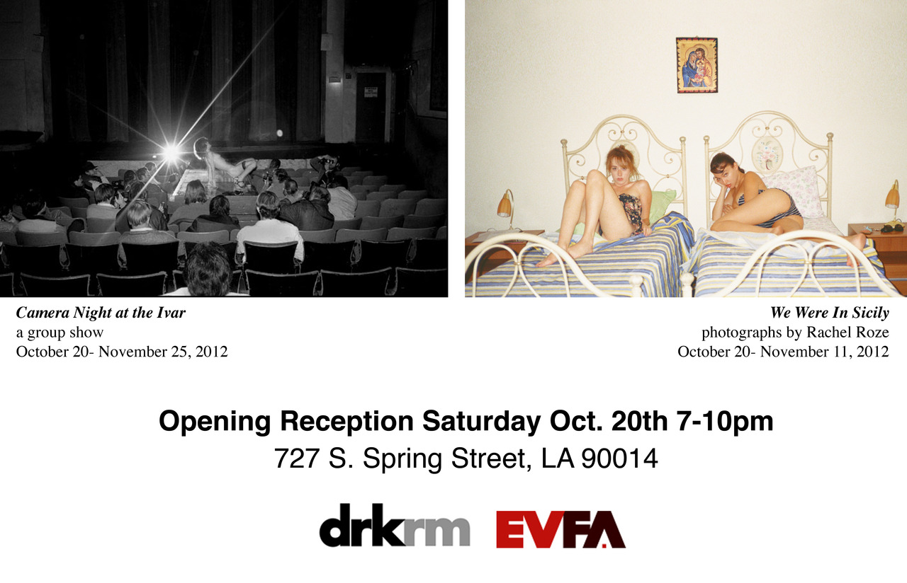 "TONIGHT in downtown LOS ANGELES My photographs along with ""Camera Night at the Ivar"""