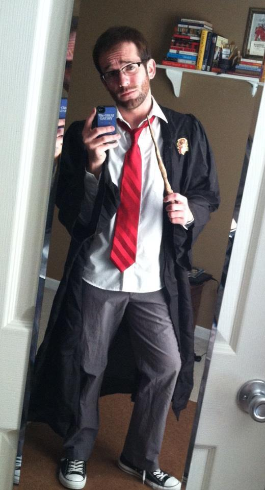 "I'm going to be Harry Potter, or ""Hairy"" Potter rather, for the Tennessee Aquarium's Aqua-Scarium Halloween Party."