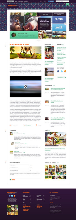 Featured on Behance: Impressionist WP Theme http://dcult.net/QGKTo5