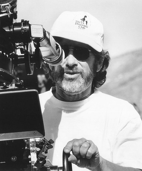 Steven Spielberg on the set of Jurassic Park (1993)