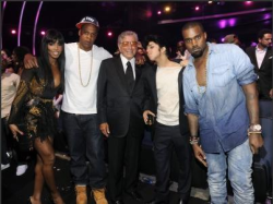 Jay-Z, Kelly Rowland, Tony Bennett, Jo Calderone, and Kanye West.