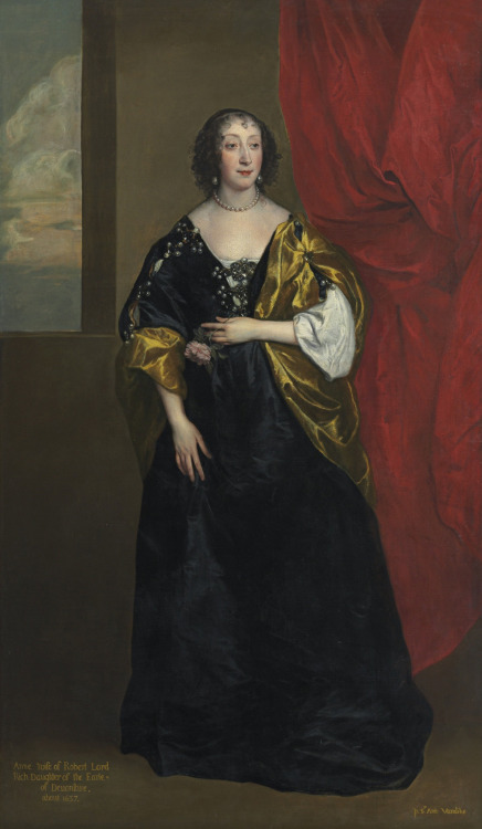 Anne Cavendish-Bentinck Anthony van Dyck ca. 1637