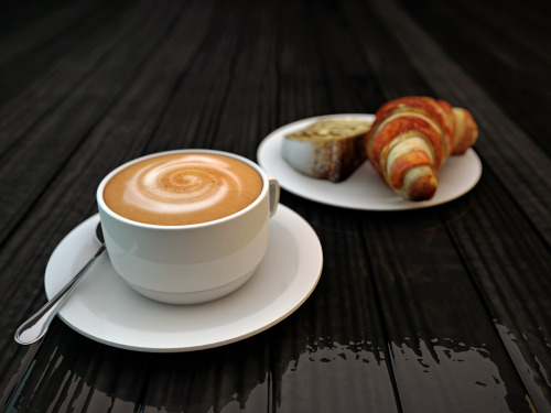 {cappuccino and croissant} by Andrea Crisante