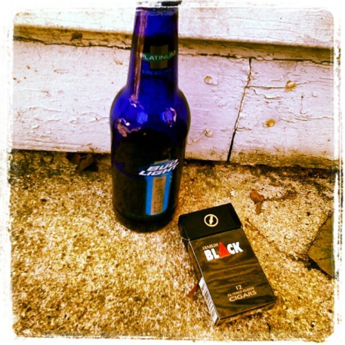 Chillin #budlight #platinum #Black #cigars #cigarettes