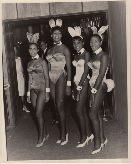 Untitled (Black Bunnies) Original photograph anonymous undated collection Victor Minx Jim Linderman Vintage Sleaze the blog HERE