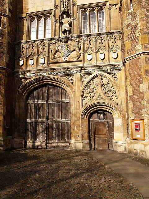 | ♕ |  Trinity College Gate - Cambridge, UK  | by © Ken Hircock