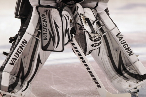 ilovegoalies:  Jonathan Quick, Sept 2011 (My favorite gear set of last season.)