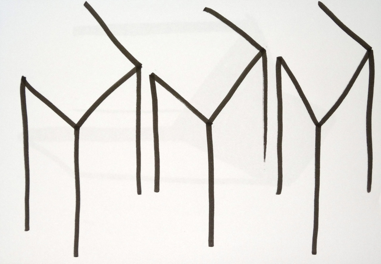 aseriesofdecisions:  Uncertain Forms brush pen on paper  2012