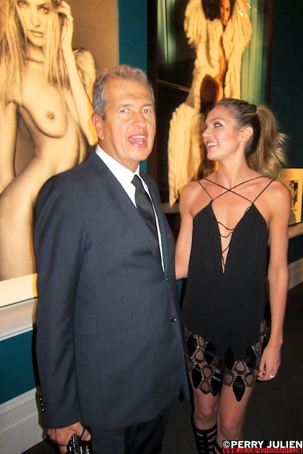 MARIO TESTINO and CANDACE SWANEPOEL At the opening of IN YOUR FACE at The Boston Museum of Fine Art Boston Massachusetts   October 17 2012 ©Perry Julien / www.julienphotography.com