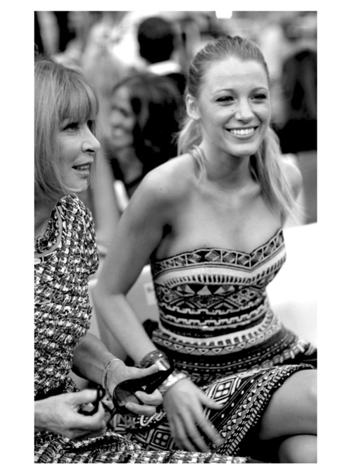 heyskinnybitch:  Anna Wintour and Blake Lively