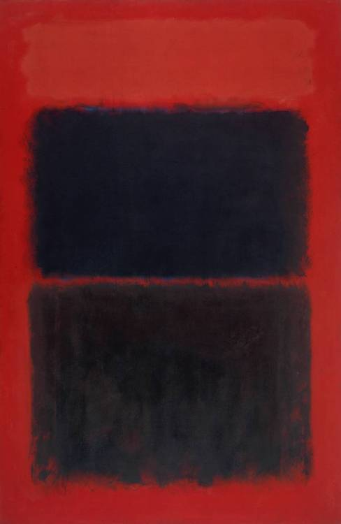 smarshtastic:  top ten favorite artists in no particular order:  Mark Rothko, Light Red Over Black, 1957  I saw Rothko at the Tate when I was studying abroad in London. Being in a room of these paintings (which are massive) is overwhelming and very emotional. I just like his colors. His yellow series is greaaaat