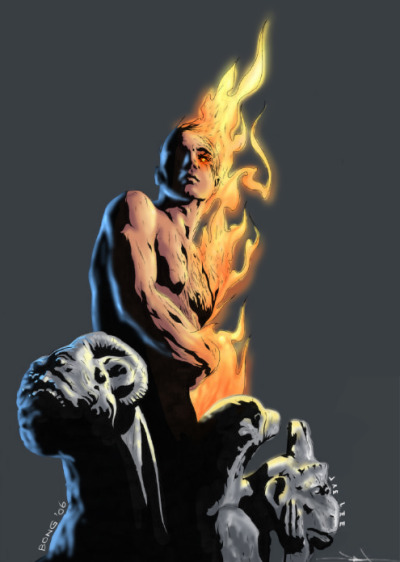 The Original Human Torch by Jae Lee (pencils) and Bong Tze Young (colors)