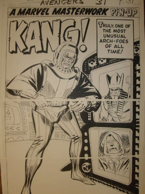 themarvelageofcomics:  Pin-Up of Kang from AVENGERS #11 by Don Heck.  Kang is so dang baller you guys.