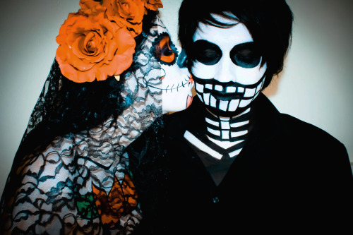 Till Death Do Us Part. Day Of The Dead Traditional Bride & Groom.  Model: Alfred Model/Mua: Karis Ayers