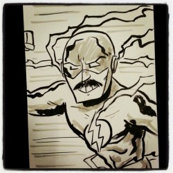 chrishaley:  Quick sketch of Freddie Mercury as The Flash for a fan. #FanDays #comics