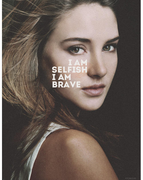 I have a theory that selflessness and bravery aren't all that different.