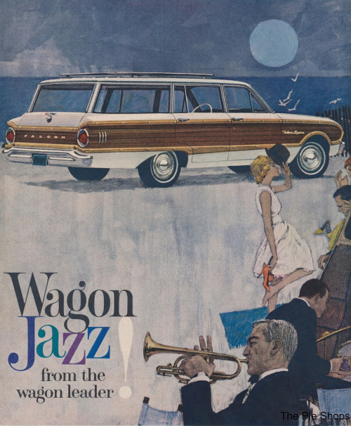 Wagon Jazz from the Wagon Leader! (via The Pie Shops)  See more jazzy woodgrain station wagons in detail at Chromeography.