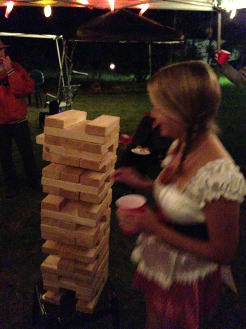 'Tis a steady hand which keeps the Jenga alive.