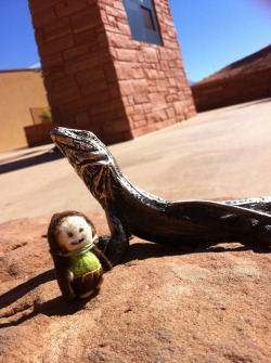 Making new friends at Arches National Park @nps #utah #moab -
