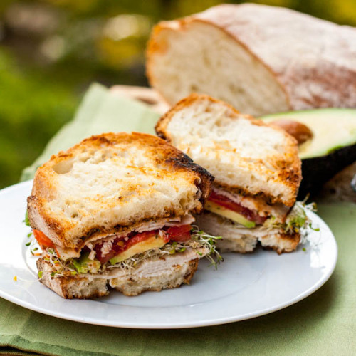 Turkey and Avocado Sandwich with recipe (link)