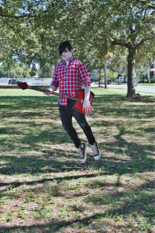 Jason Pisculli (me) as Marshall Lee at Tampa Bay Comic Con.  Photo by Amanda Mendez