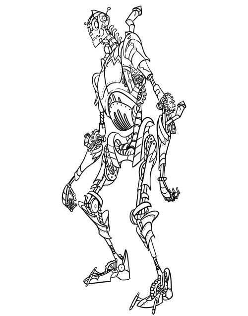 Linework for a robot I'm working on.