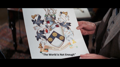 "James Bond's Family Crest from ""Her Majesty's Secret Service"""