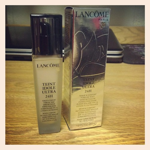 New foundation from Lancôme Paris. Can't wait to start using it! #beauty #makeup #sephora #lancôme #paris #gorgeous #skin