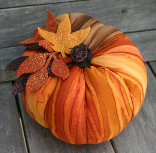 Autumn Orange Plush PumpkinHalloween by BloomAndBarnacle on Etsy