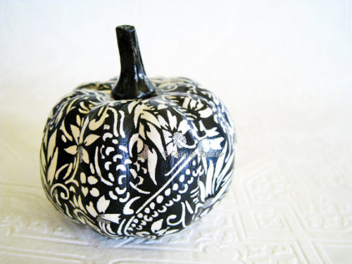 Pumpkin Ornament Squash Ornament Halloween by CatnipStudioToo